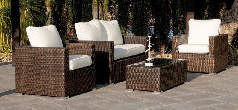 mobilier de jardin amenagements exterieurs salons jardins resine tressee salon hevea casanova