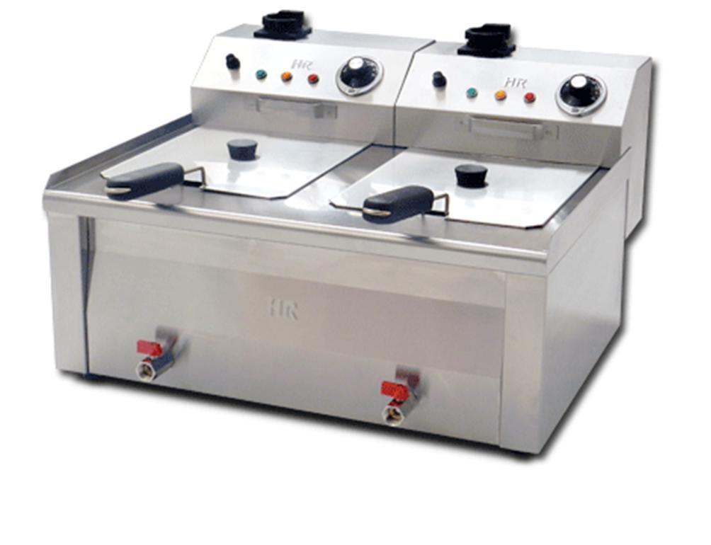 Friteuse fainca 2x8 litres haut rendement r f cuisine for Prix cuisine professionnelle complete