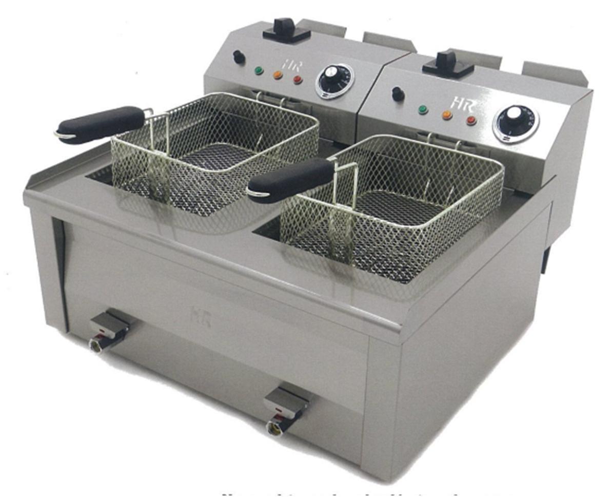Friteuse fainca 2x10 litres haut rendement r f for Four pour cuisine professionnelle