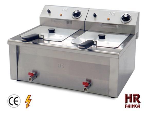 Friteuse fainca 2x10 litres haut rendement r f for Cuisine exterieure professionnelle