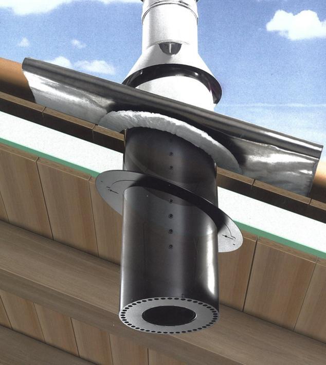 traversé isolé pour toiture en bois Ø 150mm - réf. - conduits de