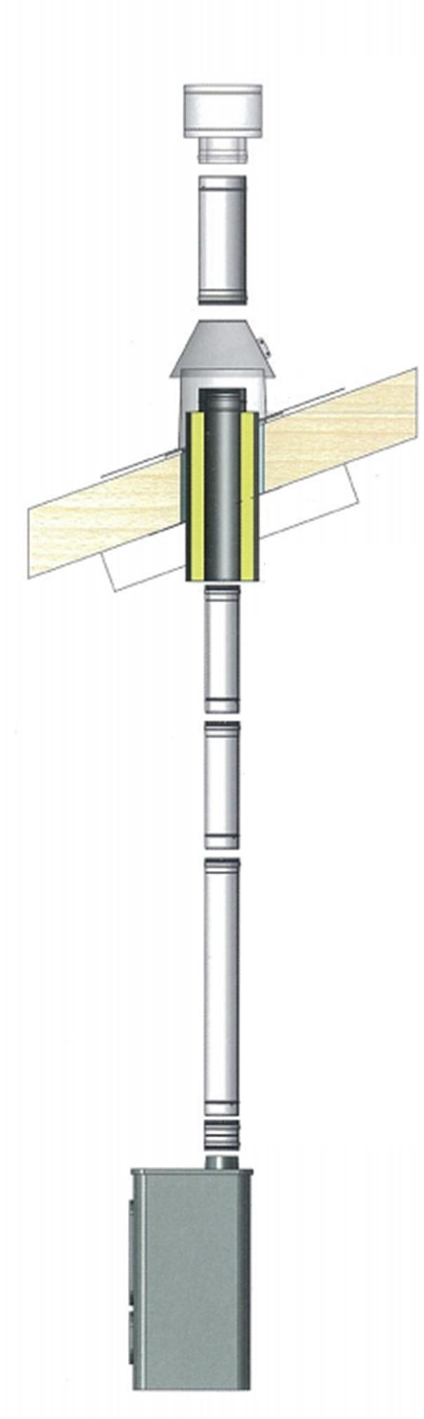 Travers isol pour toiture en bois 150mm r f for Conduit de cheminee inox isole prix